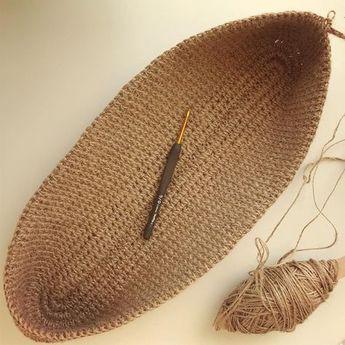 Bolso de compras tejido a ganchillo totalmente hecho a mano con asas de punto corto o largo …
