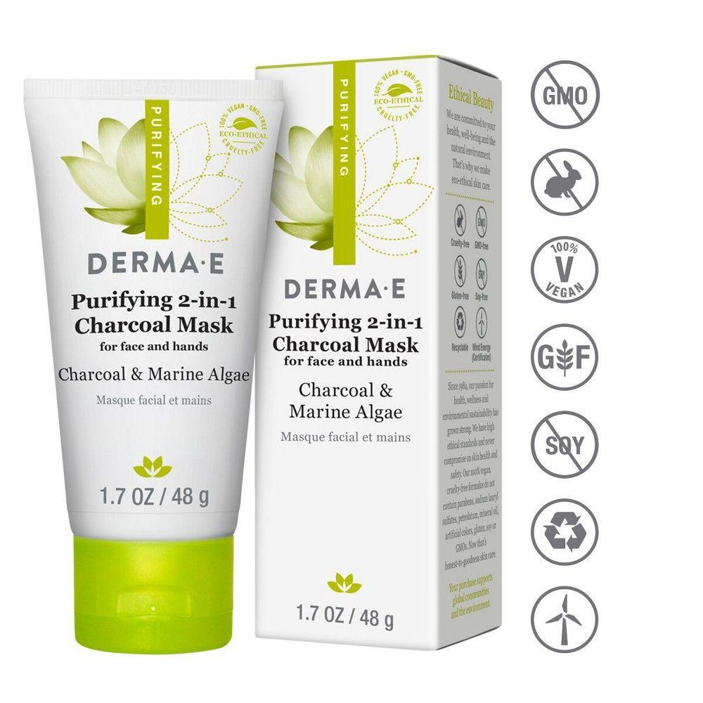 Derma E Purifying 2 1 Charcoal Face Mask 1 7oz Charcoal Face Mask Charcoal Mask Paraben Free Products