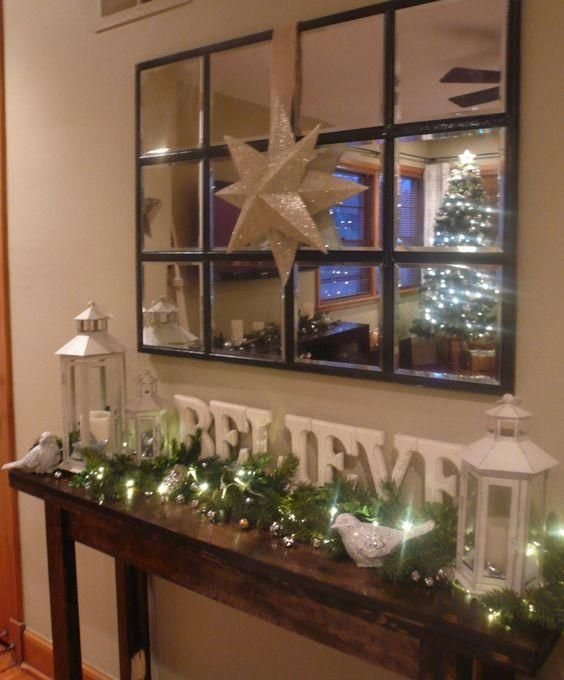 Elegant And Neutral Christmas Foyer: Ideas Para Decorar Tu Recibidor Esta Navidad 2016
