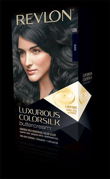 ريفلون لوكسوريوس كلر سيلك Revlon Luxurious Colorsilk Hair Color Revlon Shades Of Black
