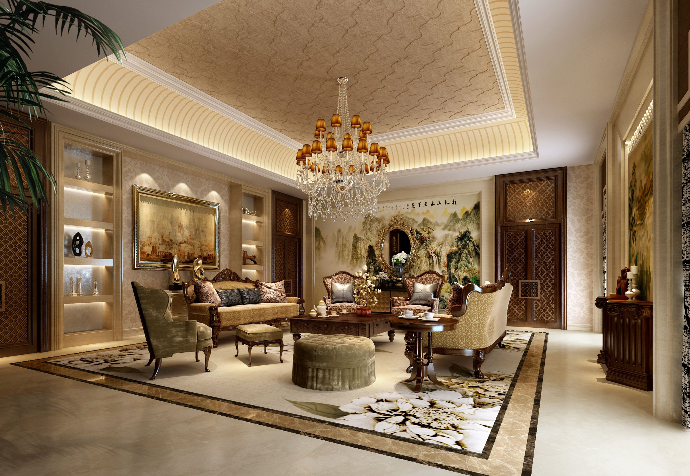 Luxury living room | 3D model | Pinterest | Luxury, Living rooms and ...