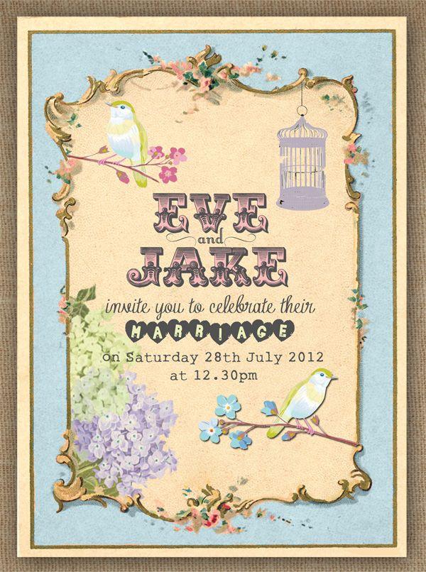 Picnic Wedding Reception Invitations