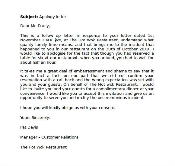 The 50 best apologize letter to client apology letters to guests the 50 best apologize letter to client ccuart Gallery