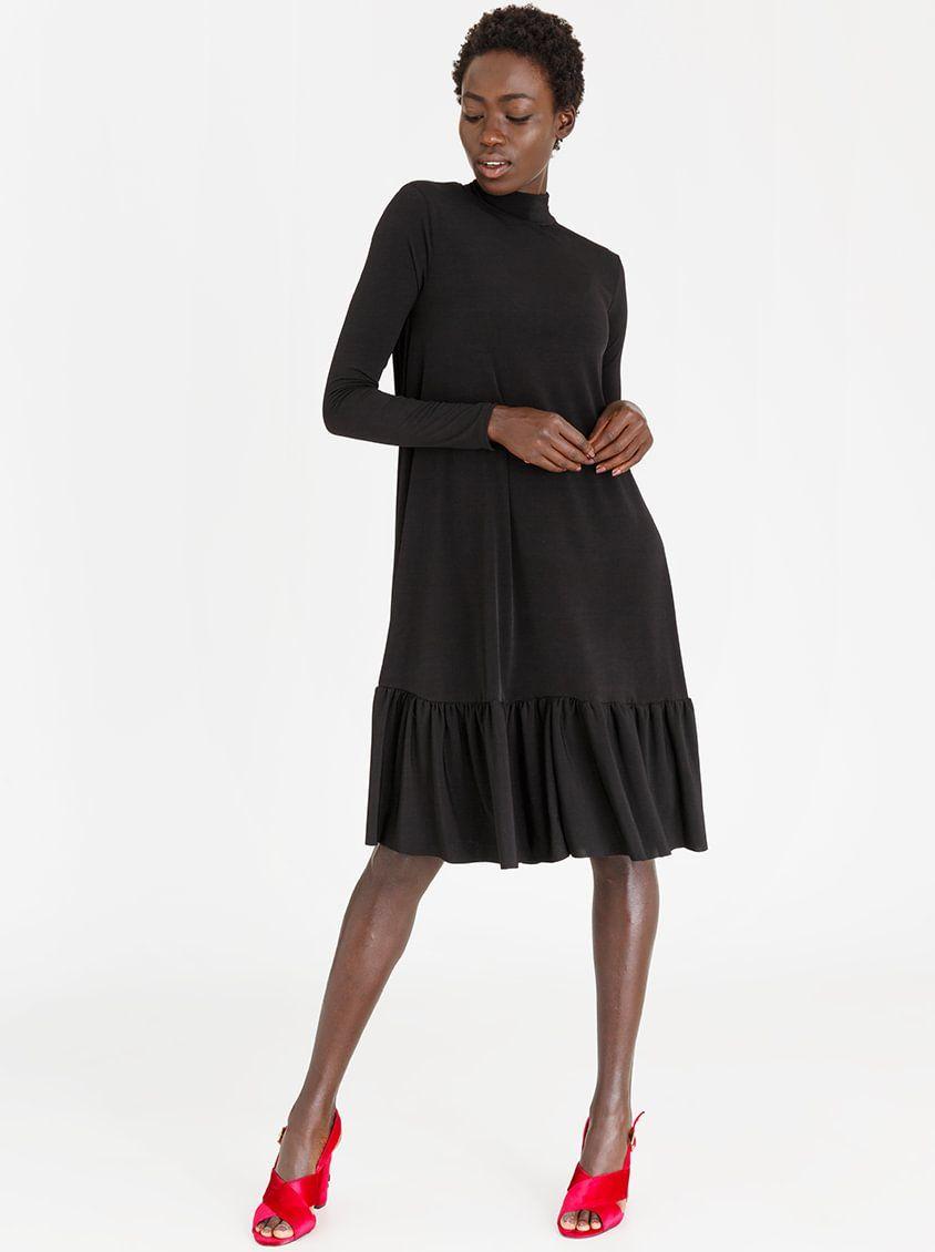 8350d508735  STYLEREPUBLIC Volume Swing Dress Black  spree