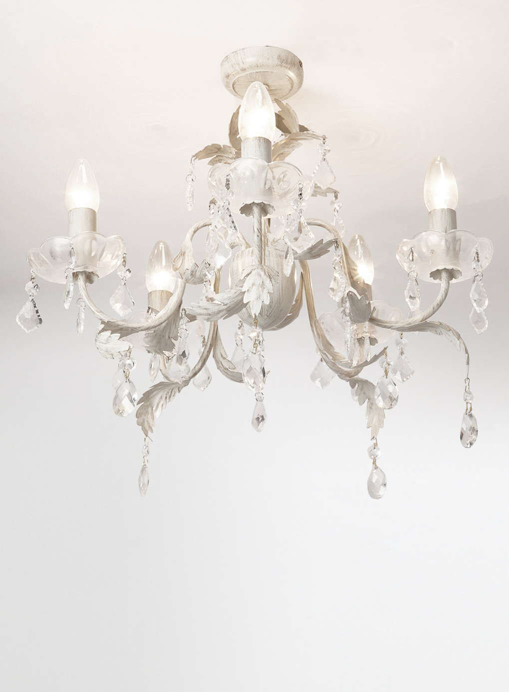 juliette 5 light flush fitting chandelier flush fitting juliette 5 light flush chandelier cream gold cream gold from bhs add a quintessentially french accent to your drawing or dining room lighting sale