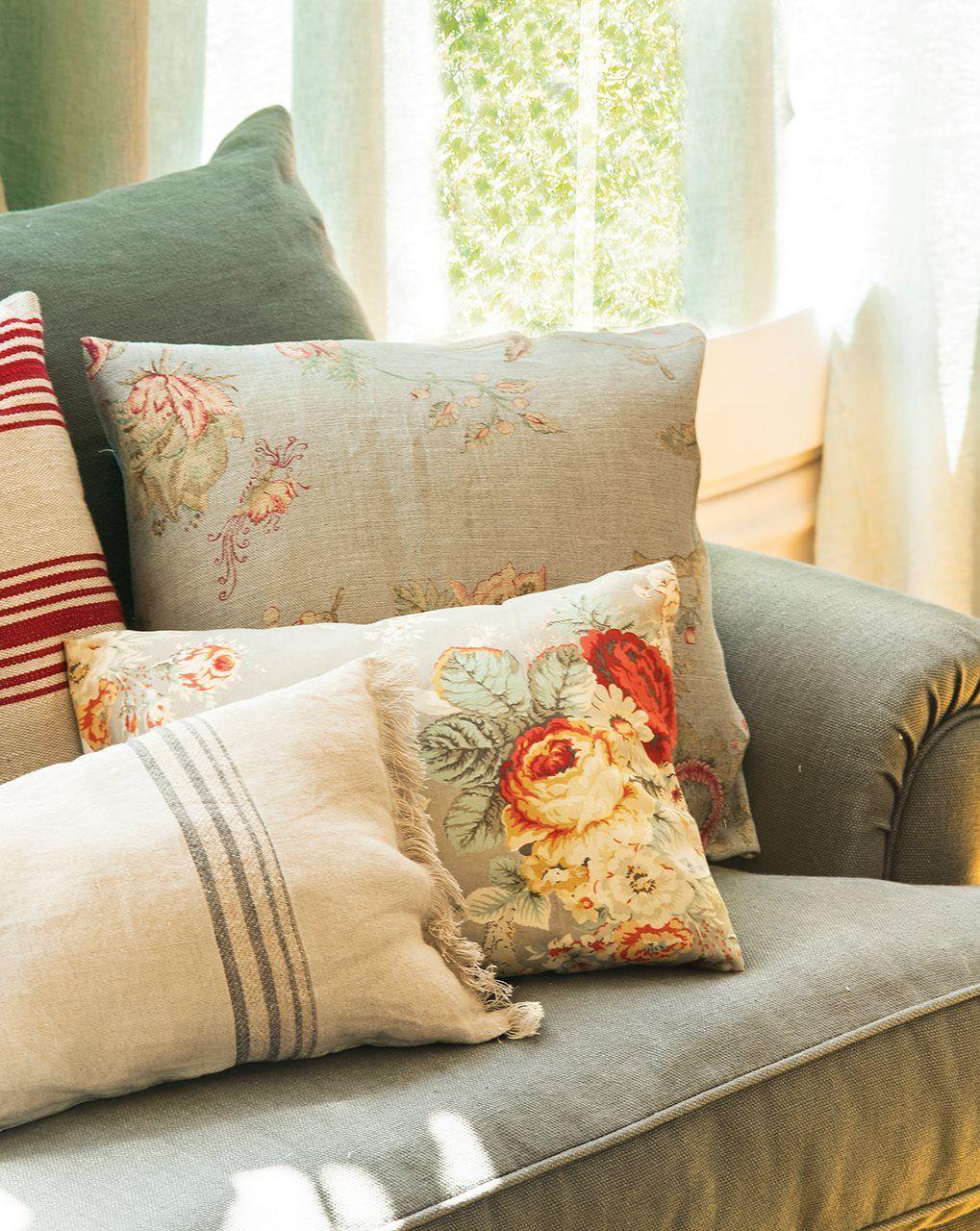 Un salón en 3 estilos... ¡cambiando las telas! · ElMueble.com · Salones