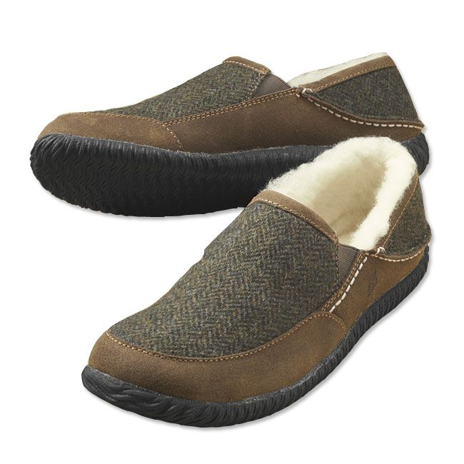 3ed7dbbc64877 Just found this Mens Wool Slippers - Wool Herringbone Slippers -- Orvis on  Orvis.com!