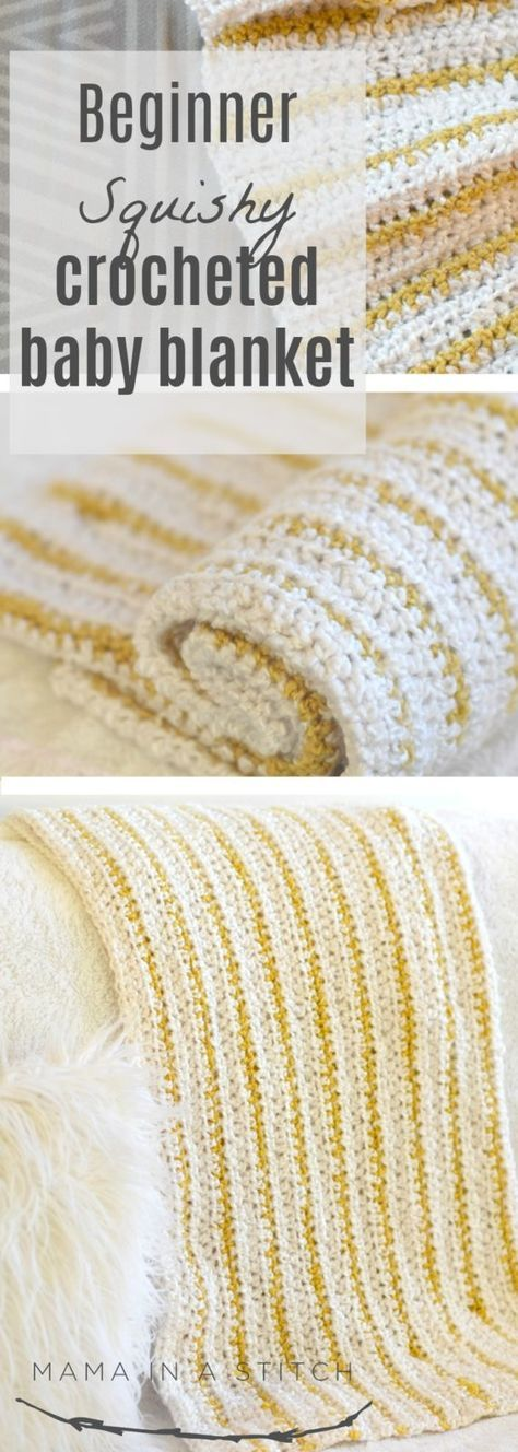 Soft Beginner Crochet Blanket Pattern via @MamaInAStitch Free ...