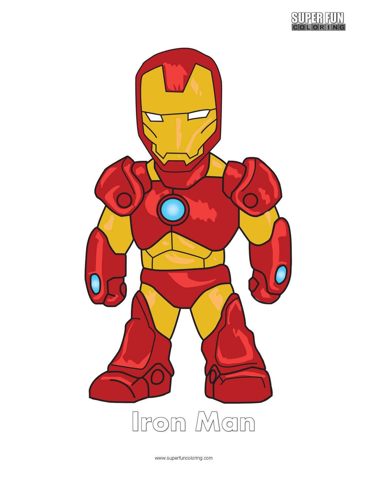 Iron Man Free Superhero Coloring Page | Super Fun Coloring Pages ...