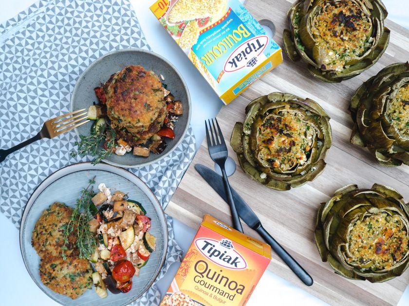 Tipiak Kochabend* - gefüllte Artischocken mit Bulgur Bulgur - leichte und schnelle küche