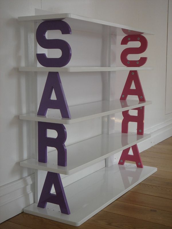 Personalised Bookcase 4 Letters 5 Shelves A Fabulous Addition To Any Child S Room
