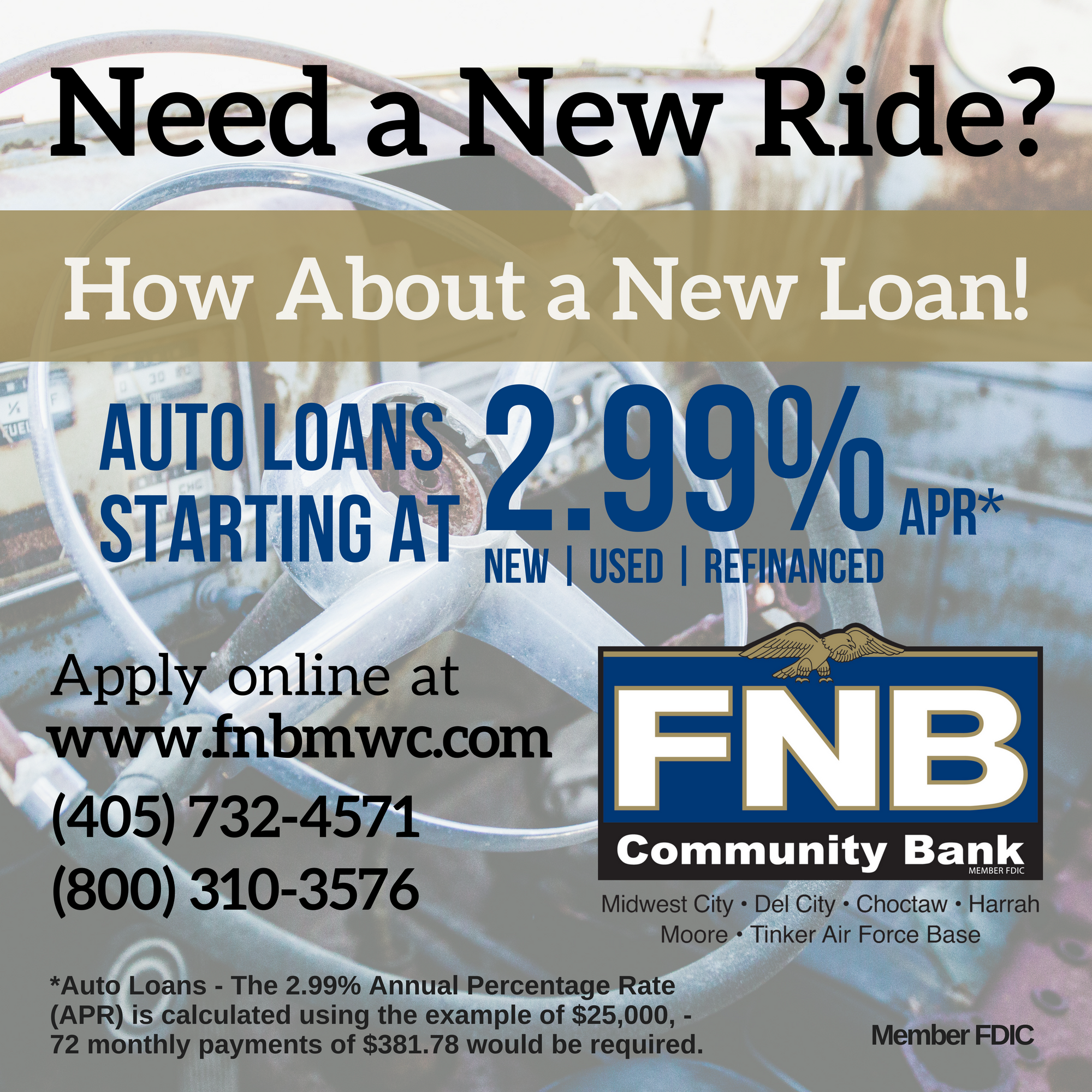 Have You Had Your Eye On A New Or New To You Car Take Advantage Of Our Low Loan Rate Of 2 99 Apr Today Apply Online Apply Online How To Apply Midwest City