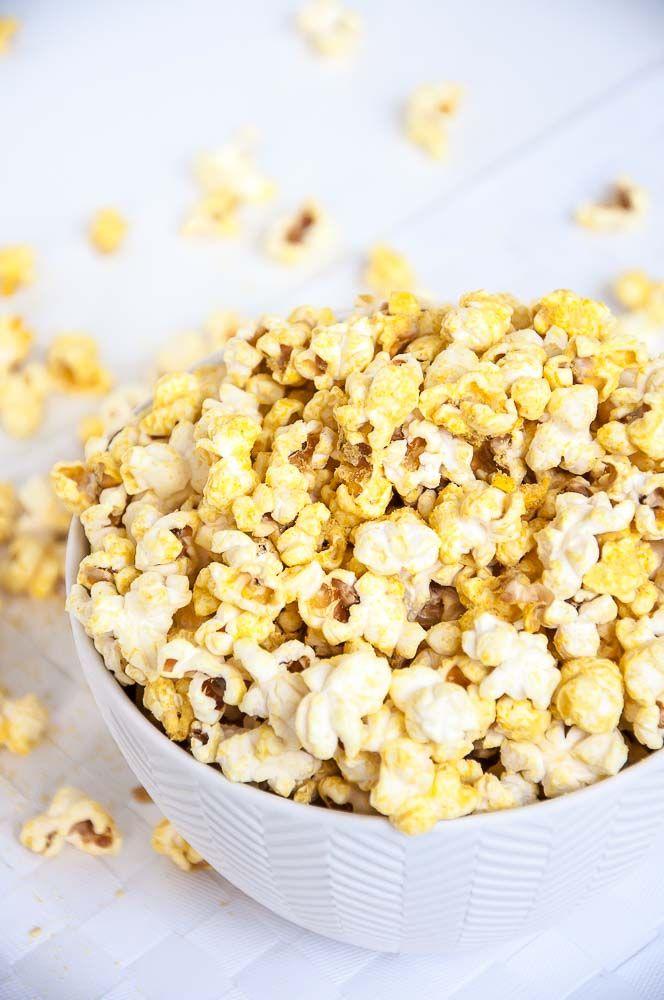 Vegan Cheese Popcorn Recipe   VeganFamilyRecipes.com   #healthy #glutenfree #snack #kids