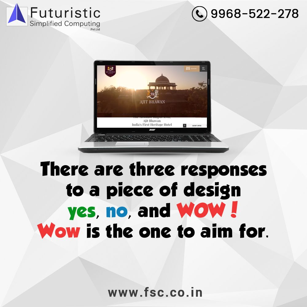 There Are 3 Responses To A Piece Of Design Yes No Wow Wow Is The One To Aim For If Y Digital Marketing Services Digital Marketing Website Design