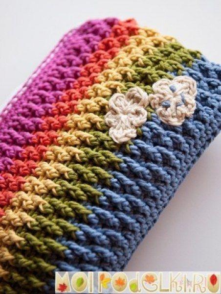a531c4827675 Модная вязаная косметичка крючком | Вязаные сумки | DIY crochet bag ...