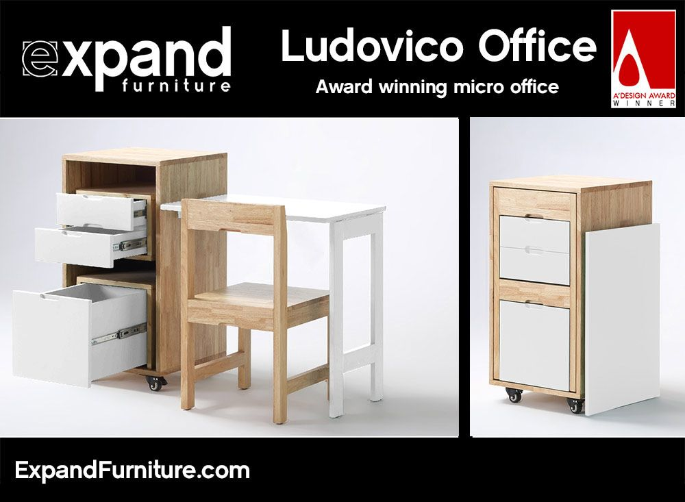 Transforming Ludovico Office Expand Furniture Furniture For Small Spaces Portable Furniture Small Spaces Space Saving Furniture