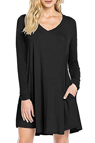 e50ac85ed2aa Women s Casual Dresses - MOLERANI Womens Casual Plain Simple Pocket Tshirt  Loose Dress     Click image for more details. (This is an Amazon affiliate  link)