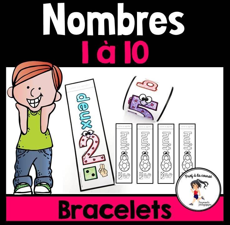 FRENCH Number 110 Bracelets / Bracelets des nombres 110