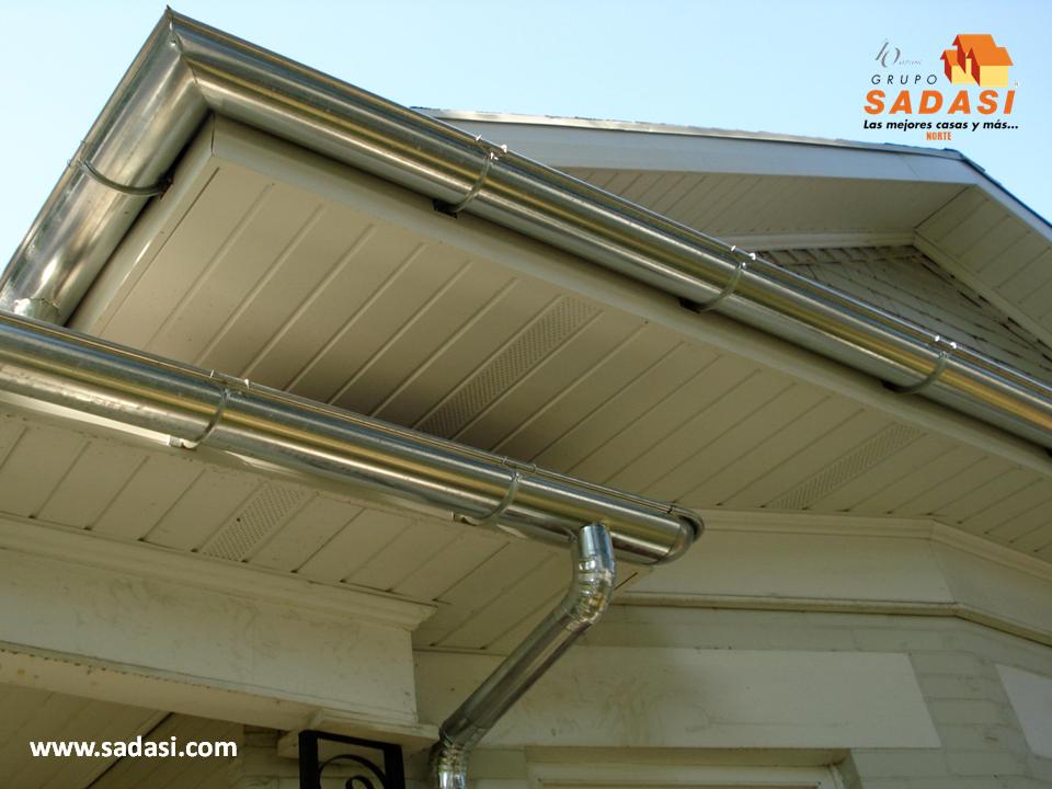 Hogar las mejores casas de m xico las canaletas para el for Canaletas para techos de madera