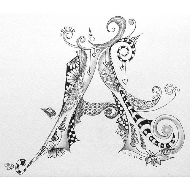 Alphabet Letter Designs Art: Belle Calligraphie