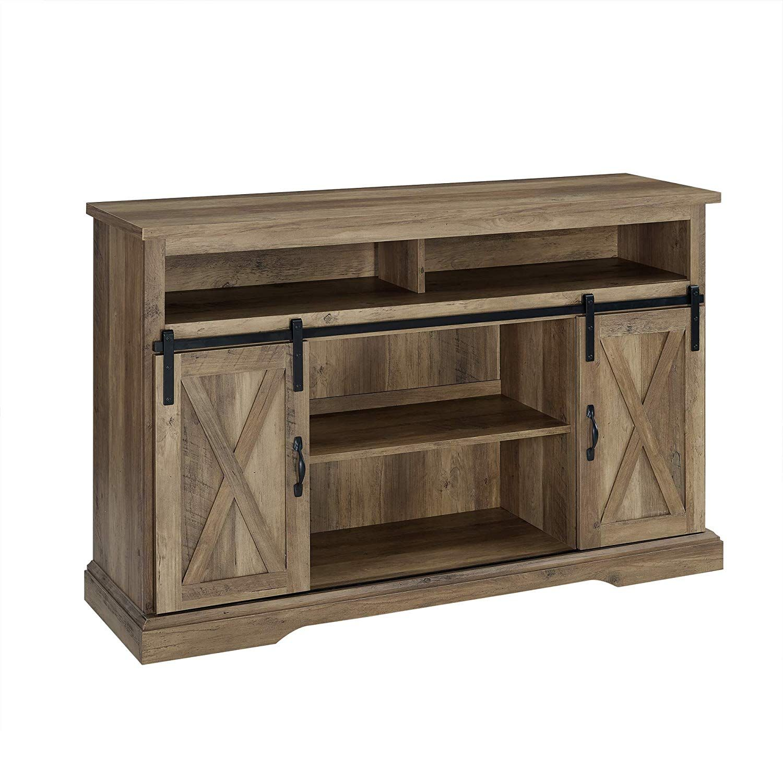 "TV Stand 52"" Rustic Oak. farmhouse decor rustic"