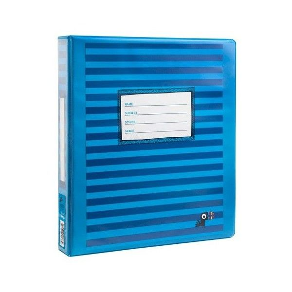 yoobi 1 inch binder with d rings blue stripe 25 liked on