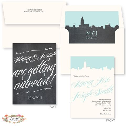 New York Wedding Invitations