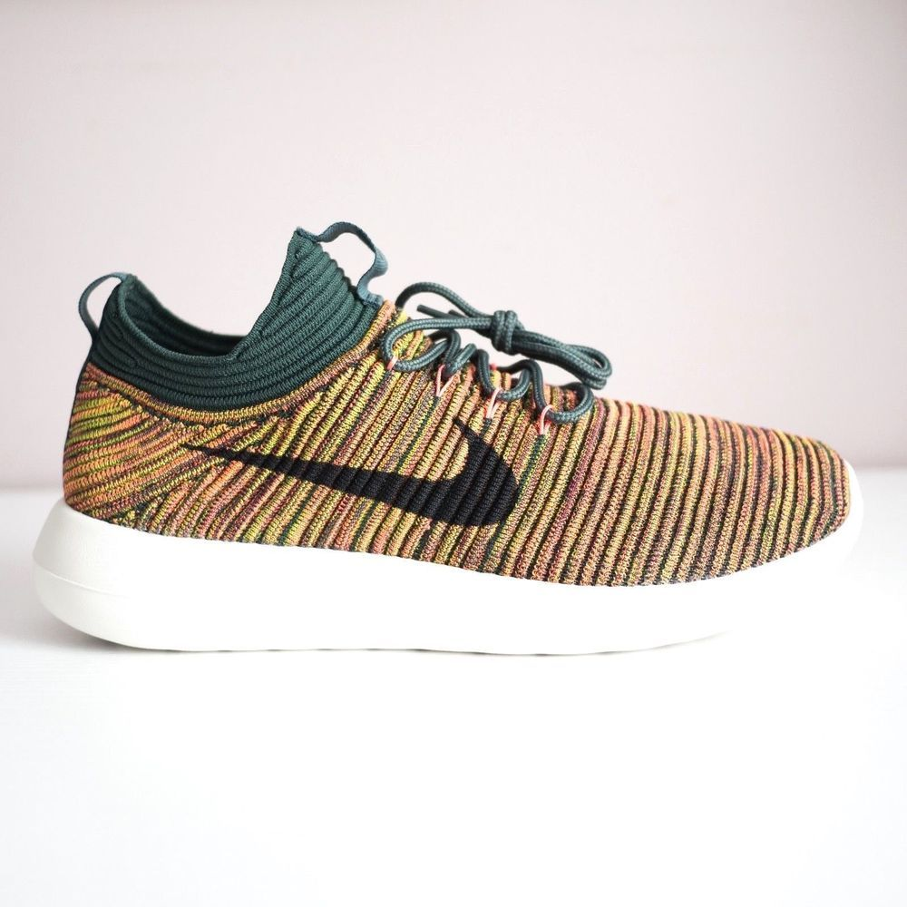 pretty nice d7b30 2eb58 Nike Roshe Two Flyknit V2 Women Running Training Shoes Vintage Green 917688  300  fashion  clothing  shoes  accessories  womensshoes  athleticshoes  (ebay ...