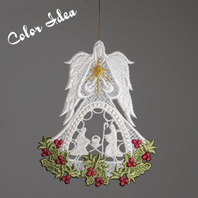 FREE SHIPPING 3 inch-10 Machine Embroidery Designs CD FSL CHRISTMAS EARRING