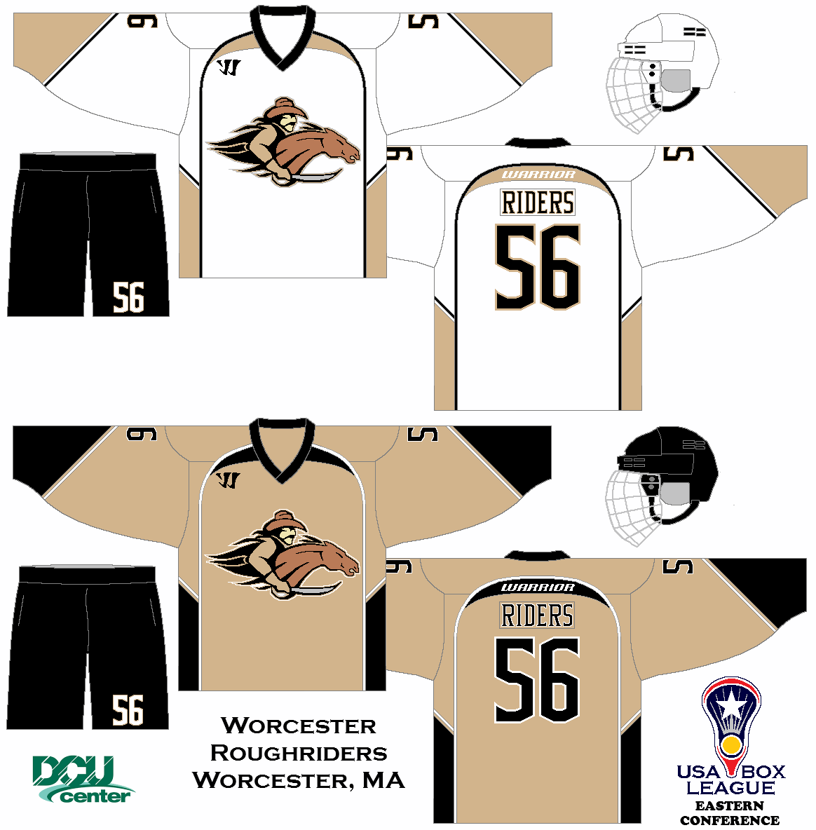 My Fictional Box Lacrosse League The Us Box Lacrosse League Worcester Roughriders Uniform Set Concept Box Lacrosse Lacrosse League