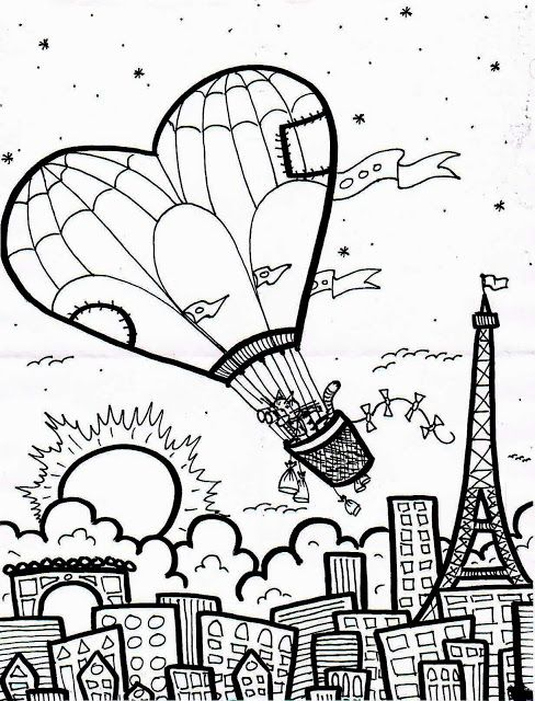 It's Time To Color: Kitty's Trip to Paris