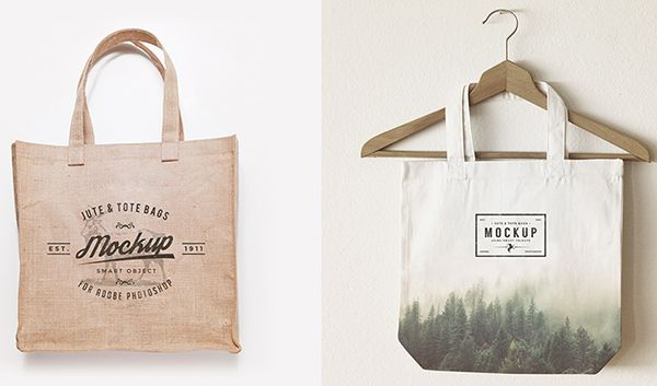 Download 105 Product Packaging Mockups Free Premium Bag Mockup Jute Tote Bags Packaging Mockup