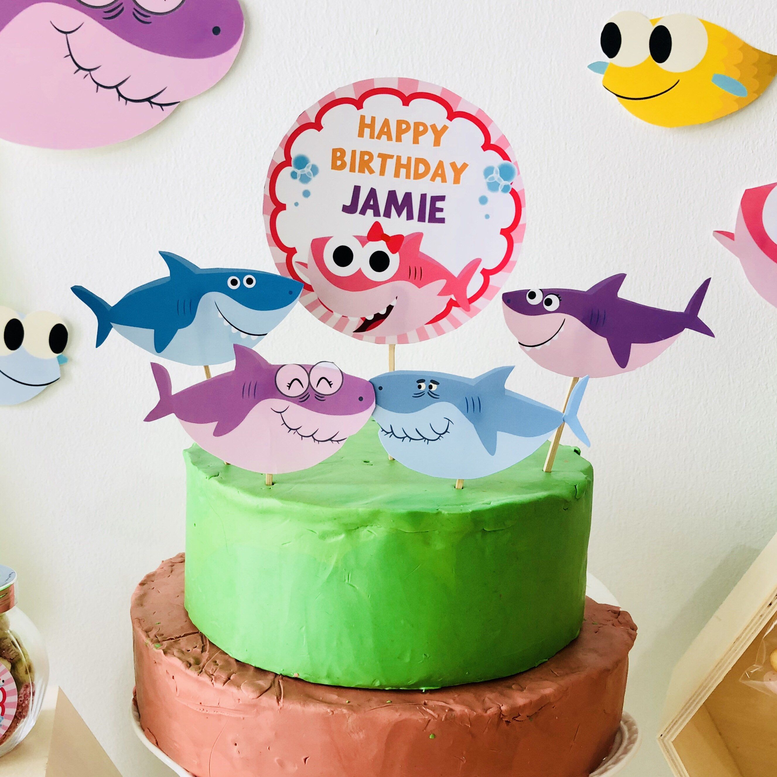 Super Simple Songs Baby Shark Girl Cake Topper Birthday Cake
