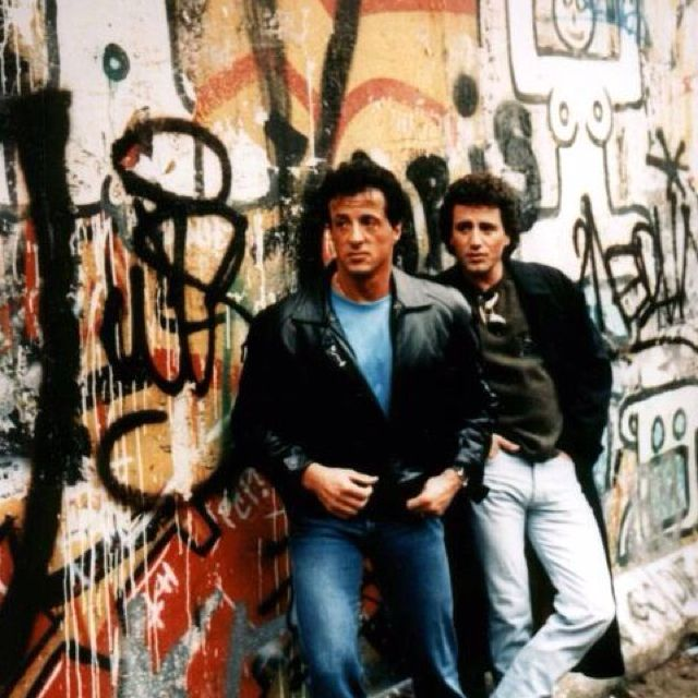Sylvester Stallone with his brother Frank