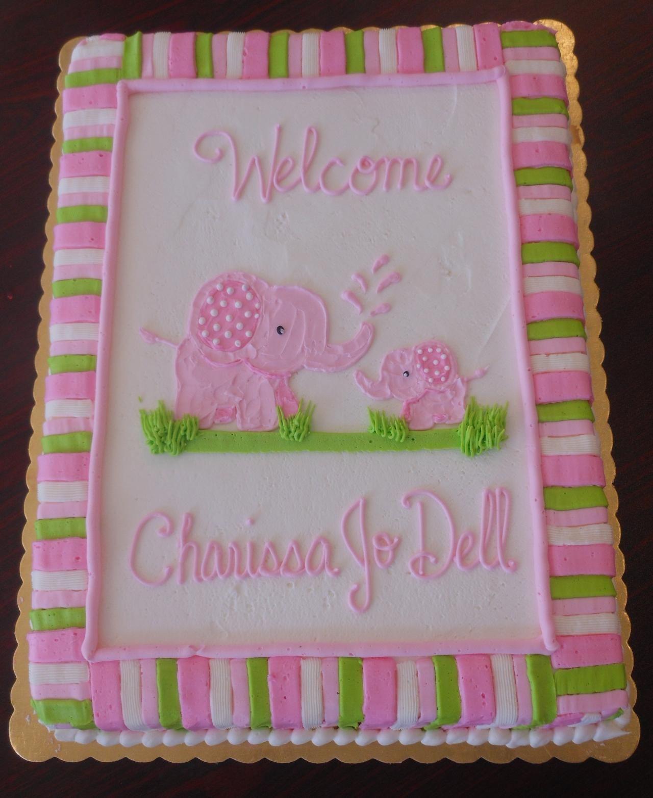Elephant Baby Shower Cake Decorations