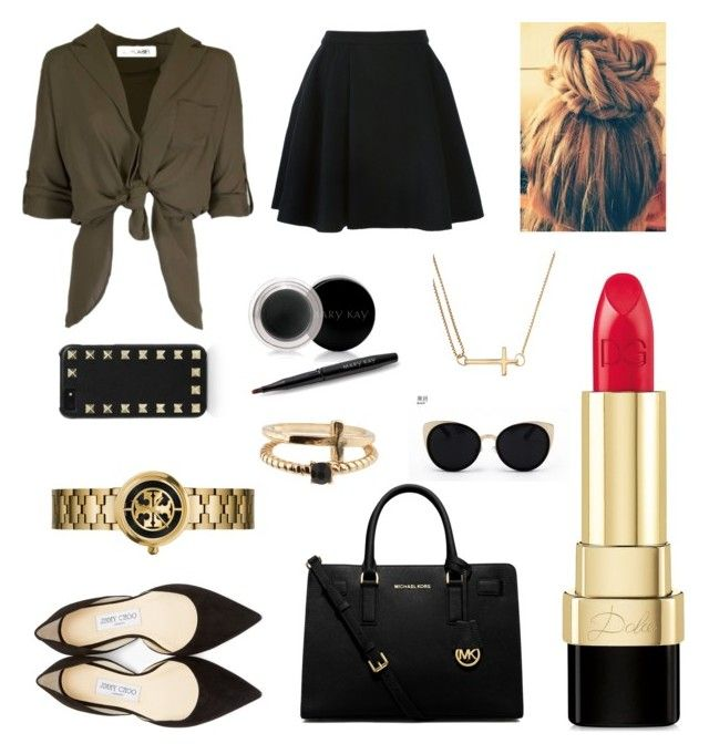"""""""Live With Style"""" by clichegraduate2031 ❤ liked on Polyvore featuring Avelon, Jimmy Choo, Dolce&Gabbana, Alex and Ani, Accessorize, Valentino, Mary Kay, Una-Home, MICHAEL Michael Kors and Tory Burch"""