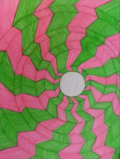 """Inspired by Bridget Riley Art """"Blaze"""" Element of Art: Line Principle of Art: Repetition, Movement, Emphasis"""