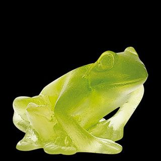 Daum Crystal Frog Acid Green. Biggs Ltd. Gallery. Price $295. 1-800-362-0677.