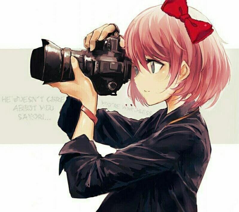 Sayori S Gotten Into Photography Ddlc Anime Art Girl