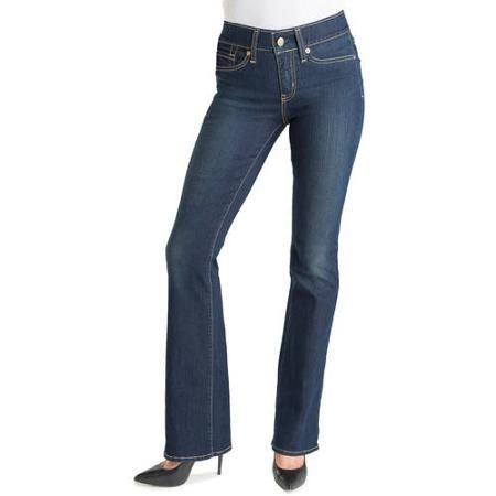 Signature by Levi Strauss & Co. Women's Totally Shaping Bootcut Jeans - Walmart.com