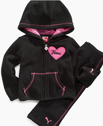 2638edebf4a9e Puma Baby Set, Baby Girls FLeece Jacket and Pant Set - Kids - Macy's ...