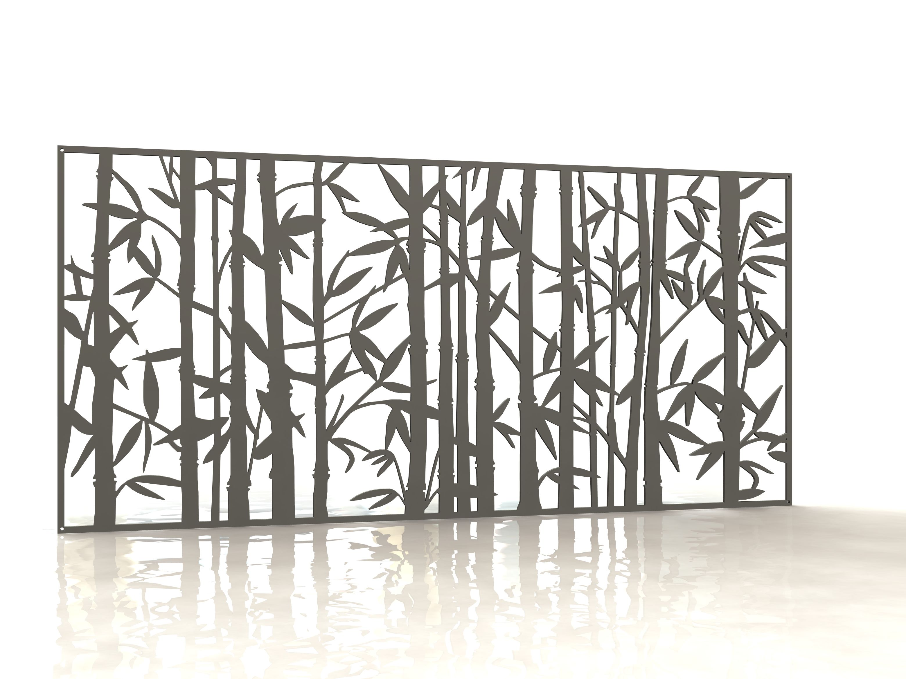 Bamboo panneau design d coupe laser laser cut panels for Arbre decoratif exterieur