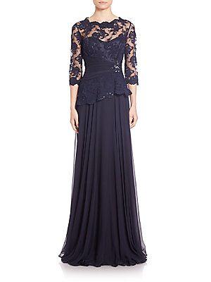 Teri jon lace and chiffon dress