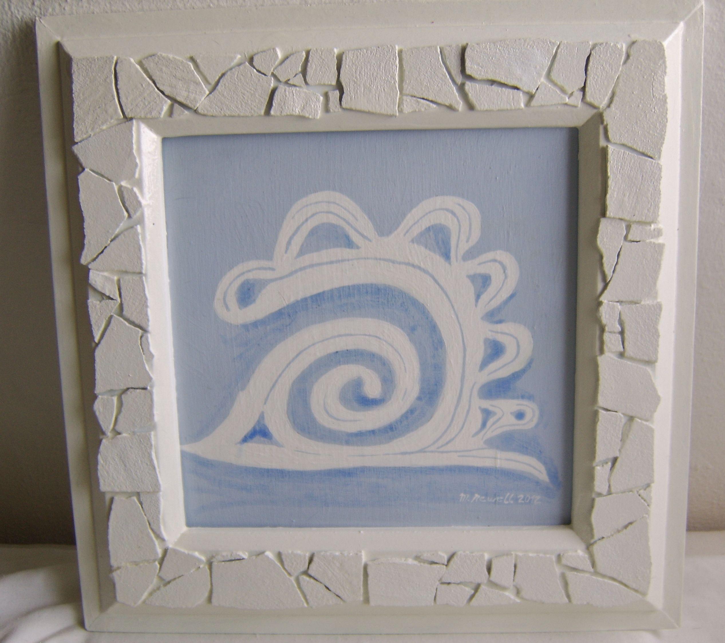 cuadro pintado con marco con relieve   MARCOS   Pinterest   Cuadros ...