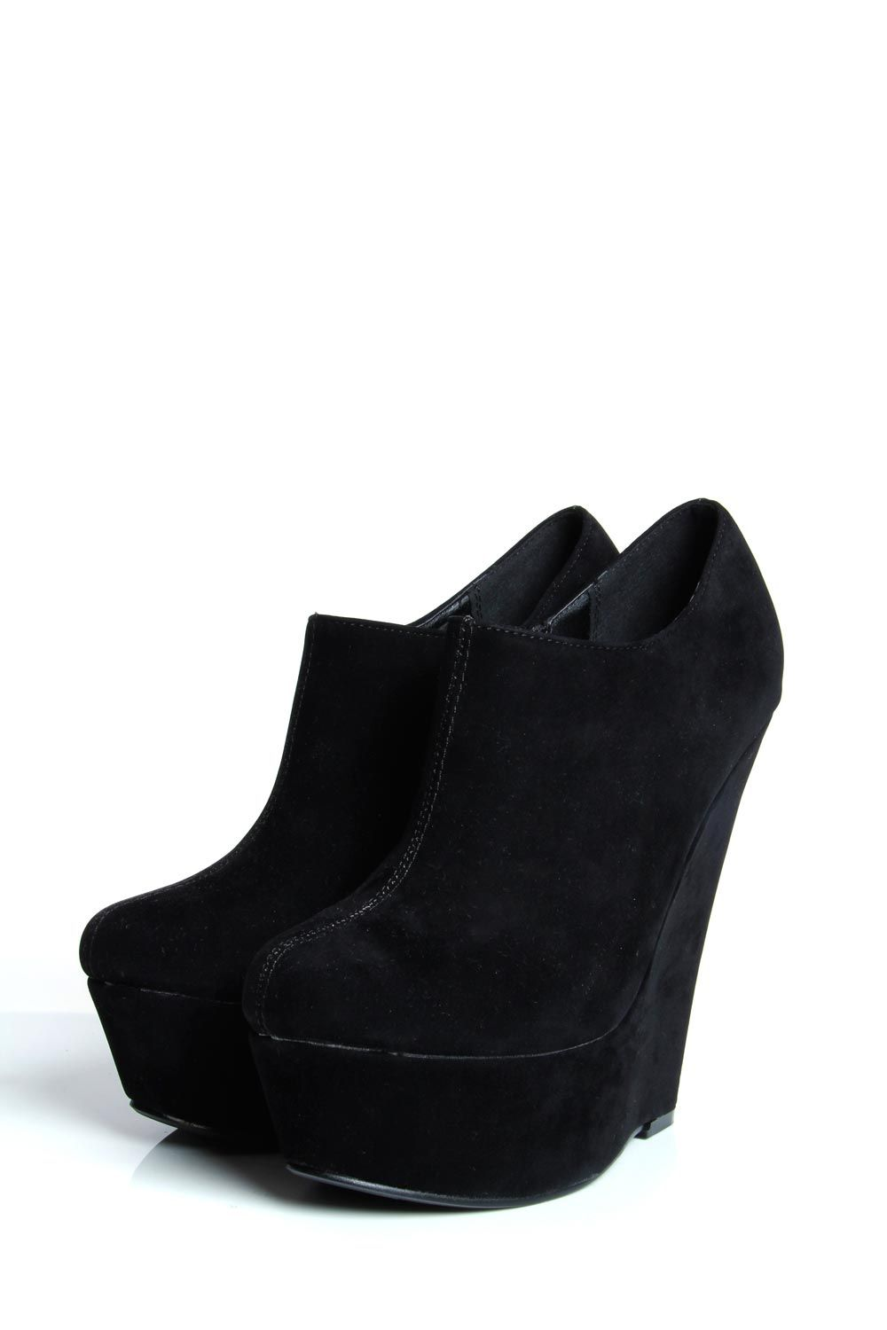 dccebf50a8 Iona Black Suedette Closed Toe Wedge | Cute things I need to buy