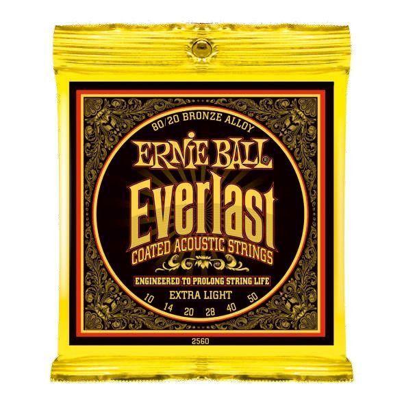 Ernie Ball Everlast Coated Extra Light Acoustic Guitar Strings