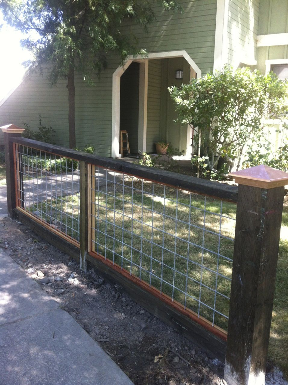 wire fence with top rail and finials by arbor fence inc wire