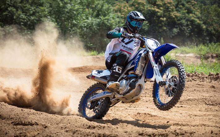 Download Wallpapers Yamaha Yz450f Motocross 2018 Bikes Race