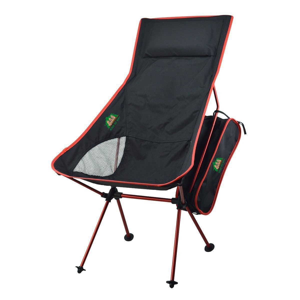 Backpacking chair ultralight - King Do Way Ultralight Portable Folding Outdoor Camping Chair For Hiking Picnic Fishing With Carry Storage