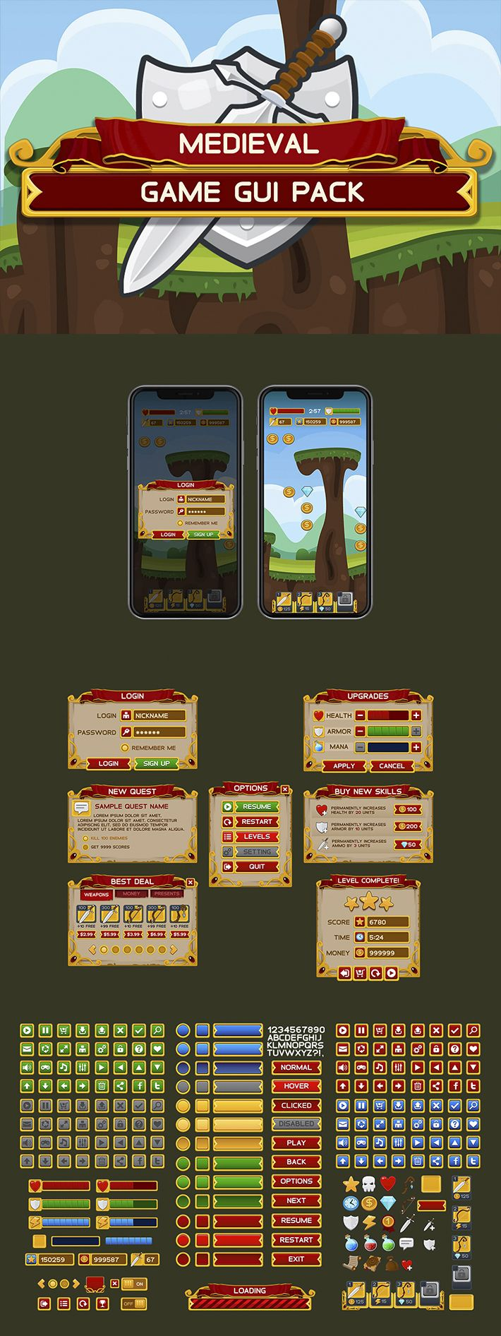 Medieval Game Interface
